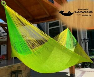 Ingalex Double size Mexican Rope Nylon Handmade Hammock  The best Gift