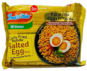 INDOMIE salted egg FRIED NOODLES HOT & SPICY HALAL 100% Original - 5pcs