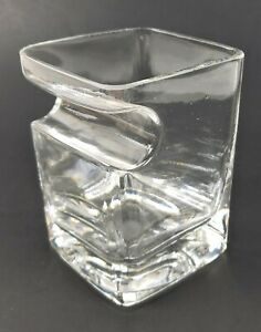 Premium Whiskey Glass with Cigar Holder Hand Made Glass Holding Cigars