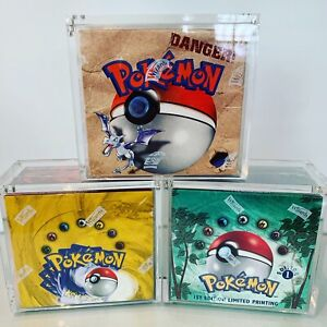Pokemon Booster Box Protective Display *SCREW* Case Fits WOTC $70.00