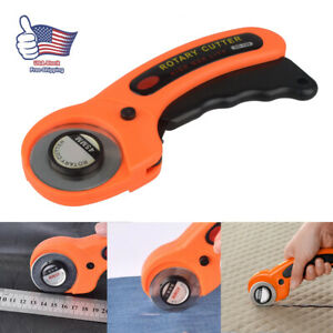 Rotary Cutter with 45mm Blades Sewing Quilters Fabric Cutting Leather Paper Tool $8.55