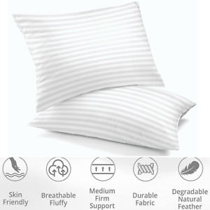 Cotton Pillows Queen King Size Luxury Ultra Soft Hotel Quality Set of 2 Pillows