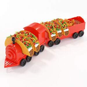 5 Piece Taco Holder The Taco Train Taco Stand Hard or Soft Tacos and Sauces