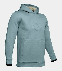 UNDER ARMOUR Men's Athlete Recovery Fleece Graphic Hoodie RECOVER Men's Small $55.00