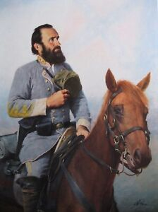 Civil War Print Tribute To The Cause General Stonewall Jackson $19.95