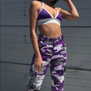 Womens Rothco Purple Camo BDU Pants