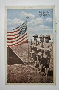 1917 quot;For My Flag and Countryquot; Patriotic Postcard $4.99