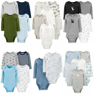Carters Bodysuits Baby Boys Long Sleeve Unisex Sets New $13.50