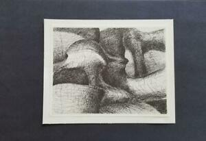 Henry Moore quot;Plate 26 From Elephant Skull Mounted b w offset Lithograph 1973 $39.00