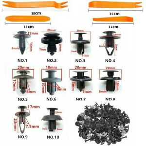 100 x Trunk Screw Rivets Set Car Bumper Fender For Auto Plastic Fastener Clips