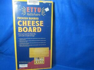Bamboo Cheese Board amp; Cutlery Set with Slide Out Drawer