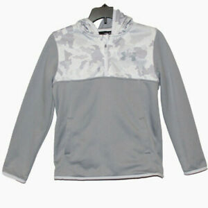 New Under armour Youth Boys Storm Fleece 1 4 Zip Hoodie Gray Size YSM 7 8 $19.99