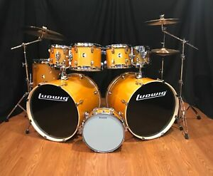 Ludwig Element Evolution 8 Piece Double Bass Drum Set Gold Sparkle ZBT Cymbals $1349.00