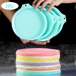 8quot; Silicone Rainbow Cake Bread Pastry Mould Bakeware Mousse Mold Baking Pans
