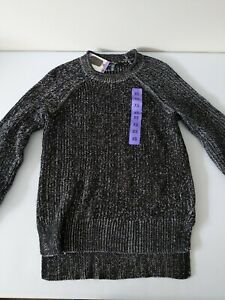 Ellen Tracy Womens Marled Knit Pullover Sweater Black Round Neck XSmall #1333132 $11.99