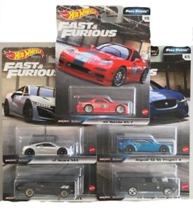 * 5 CAR SET * 2020 HOT WHEELS FAST & FURIOUS FULL FORCE H CASE