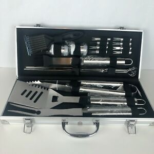 Romanticist 19Pc Heavy Duty Stainless Steel BBQ Grill Tool Accessories Set New