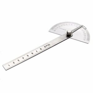 Stainless Steel Protractor Ruler Angle Finder 180° Rotary Measuring Tool $3.53
