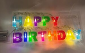 Happy Birthday Lights LED String Fun Present Party Decoration Sign Gift US SHIPD