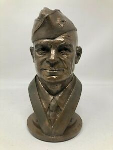 Tom Clark Cairn Bronze Sculpture Dwight Eisenhower Bust