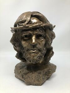 Tom Clark Cairn Bronze Sculpture Crown of Glory Jesus Bust