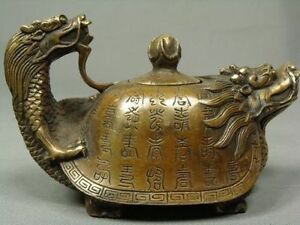 CHINESE OLD COPPER HANDWORK DRAGON TEA POT $29.89