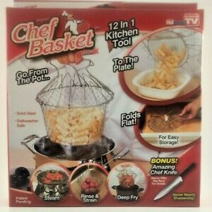Chef Basket Strainer Tele Brands 12 in 1 Kitchen Tool AS seen on TV