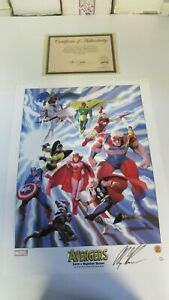 Dynamic Forces Marvel Avengers Lithograph by Alex Ross 2002 1061966 $150.00
