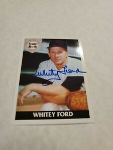 Whitey Ford Autographed 1992 Front Row The All Time Great Series #1 YANKEES