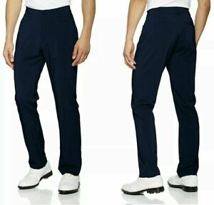 NWT Mens Under•Armour•Golf NAVY heatgear STRAIGHT Stretch Flat Front Pants $65 $38.99