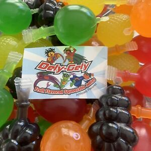 Dely-Gely Fruit Flavored Squeezable Jellies Jelly Candy Piece TikTok Challenge