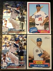 2018 Topps CODY BELLINGER LOT Chrome 132 Archives 250 Heritage AW 6 Dodgers STAR