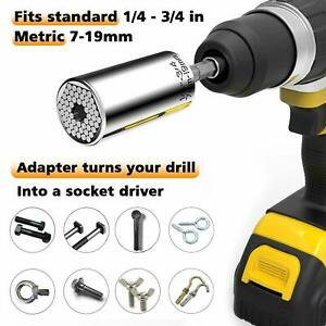 7 19mm Universal Socket Wrench Alligator Grip Multi Tool All in One Adapter USA $6.29