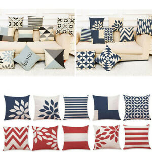 Home Case Geometric Cotton Waist Cover Sofa Throw Cushion Pillow Decor Latest $3.15