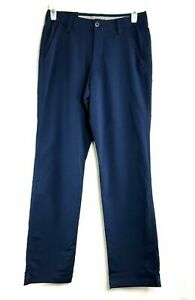 NWT Mens Under Armour Golf Pants Straight Navy Blue Size 32x36 Loose Fit $29.91