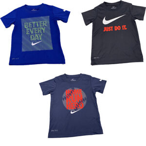 New Nike Little Boys DRI FIT Graphic Print T Shirt Short Sleeves Size 4 $18.00 $11.99