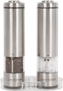 Latent Epicure Battery Operated Salt And Pepper Grinder Set (Pack Of 2 Mills) -