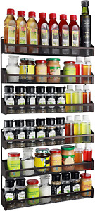 2 Pack- Simple Trending 3 Tier Spice Rack Organizer, Wall Mounted Spice Shelf St