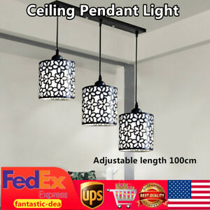 Modern Ceiling Fixture LED Pendant Light Lamp Dining Room Hollow Out Chandelier