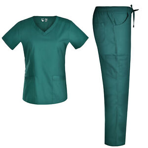 V Neck Stretch Nursing Scrubs Set Pandamed Women Slim Scrubs Medical Set JY7302