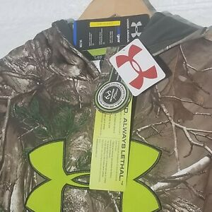 NWT Under Armour Hunting Camouflage Youth Hoodie Sweatshirt Size XL Loose Fit $19.50