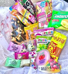 ASIAN SNACK BOX 30 pcs Japanese Korean Chinese Candy Gummy and Snacks