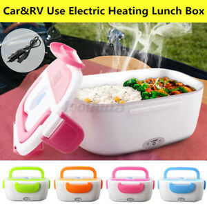 Portable Electric Heated Lunch Box Bento 12V Car Plug For Travel Food Warmer US