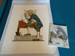 Norman Rockwell limited edition signed Lithograph of Franklin number 3 of 200 $2700.00