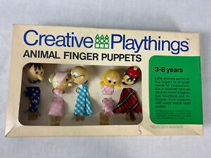 1969 Creative Playthings Animal Finger Puppets G447 $10.00