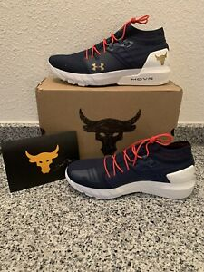 Brand New Men's 11.5 Under Armour Project Rock 2 Training Shoes Navy $149.99