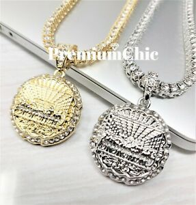 Last Supper Pendant ICED Tennis Chain Choker Men HipHop Jewelry Necklace $15.99