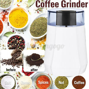 110V Electric Spice Coffee Nut Seed Herb Grinder Crusher Mill Blender Steel US