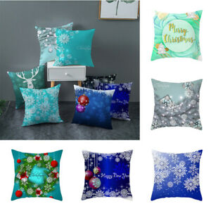 Home case Christmas pillows Blue sofa Decor for cushion throw cover $3.15