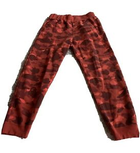 Bape Red Camo Pants $135.00